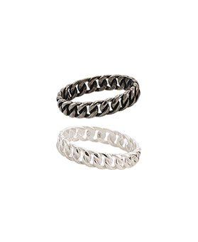 1044833 - <RI735_S> [Silver] chic twist ring