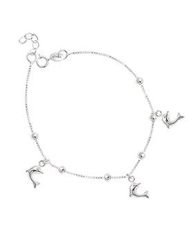 1044889 - <BC627_BE06> [Silver] dolphin unique bracelet