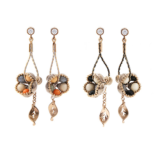 1044947 - <ER1133_DJ01> [handmade] [Silver Post] Bello Flower earrings