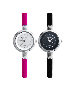 1044966 - <WC107_S> Berry leather watches