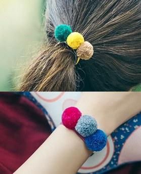 1044973 - <HA503_S> [bracelet for both] vivid pompom ponytail