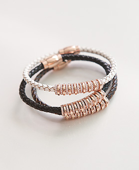1044979 - <BC636_HG15> romantic leather bracelet
