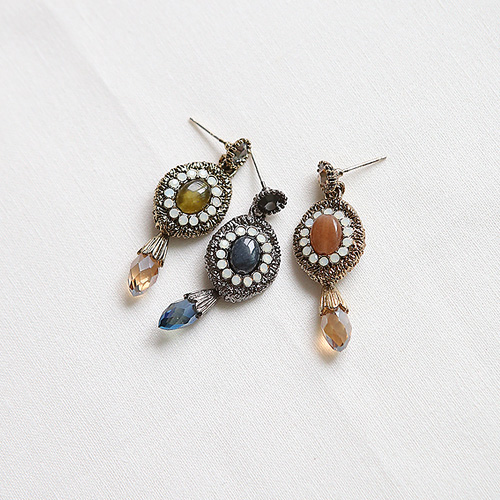 1045029 - <ER1148_DE25> [Silver Post] romance ethnic earrings