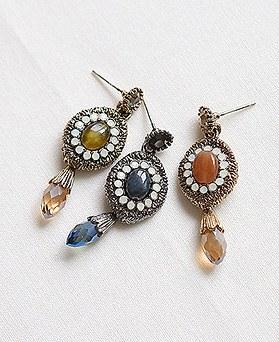 1045029 - <ER1148_DE25> [Silver Post] romance ethnic earrings