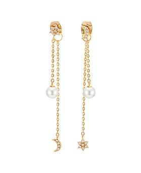1045082 - <ER1170_CA17> [Silver Post] sweet star moon earrings