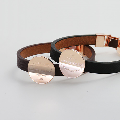 1045092 - <BC643_S> Chelsea round leather bracelet