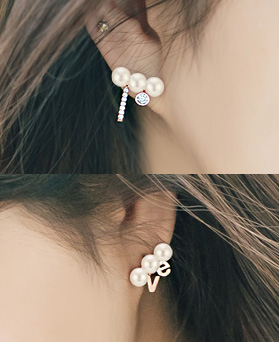 1045095 - <ER1216_S> [Out of stock] [clip type] feliz pearl earrings