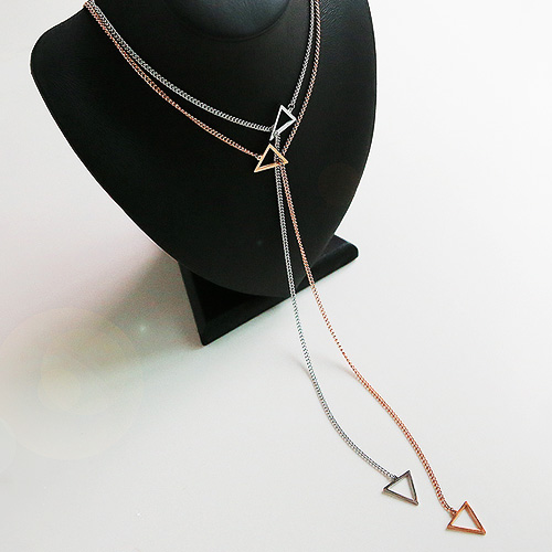 1045160 - <NE372_BA12> [Stainless steel] out chain long necklace