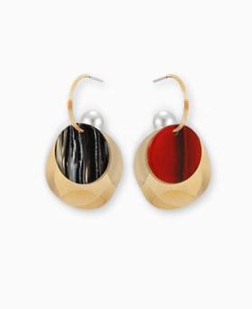 1045162 - <ER1184_CB11> [Silver Post] pearl rosy earrings
