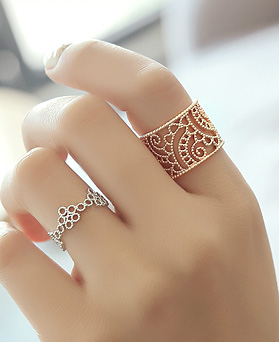 1045190 - <RI666_S> [Immediate out of stock] Posh pattern ring