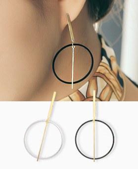 1045221 - <ER1193_CD13> round stick earrings
