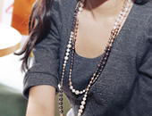 221045 - <NE055-BA19> triple edge long necklace