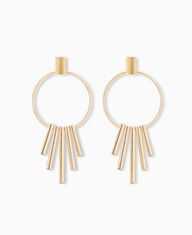 1045251 - <ER1213_CA23> [Silver Post] Chandelier stick earrings