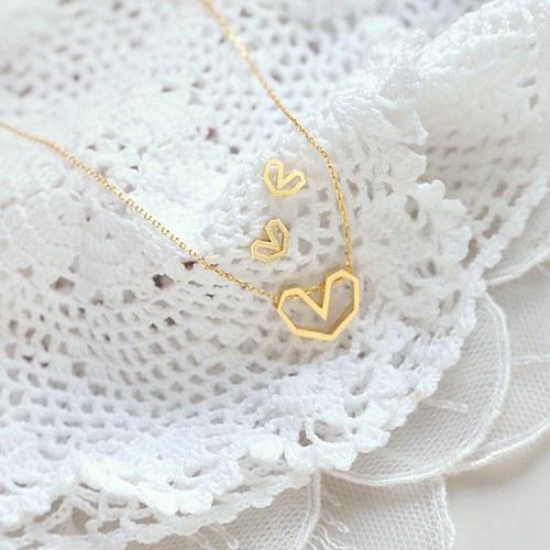 1045227 - <JS239_IH06> [necklace + earrings] [Silver] Soft heart set
