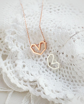 1045228 - <NE383_IH06> [Same day shipping] [Silver] Soft heart necklace