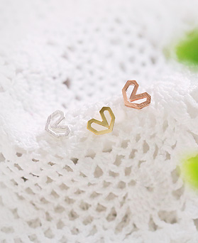 1045229 - <ER1220_IH06> [Same day shipping] [Silver] Soft heart earrings