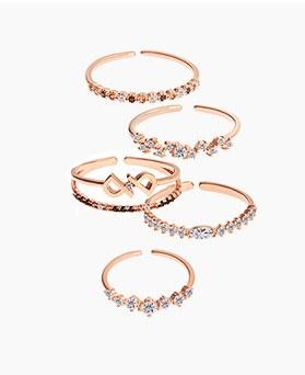 1045266 - <RI669_AD03> [5Piece 1set] jelly love ring