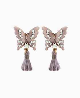 1045271 - <ER1214_CA23> butterfly tassel earrings