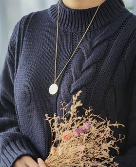 1045280 - <NE380_BD05> Gold coin long necklace
