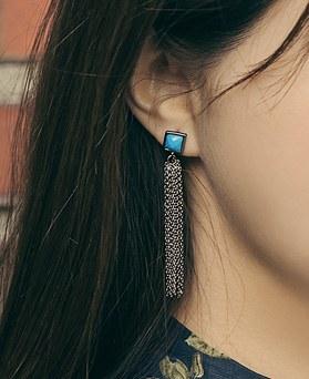 1045288 - <ER1215_CF11> [Silver Post] Memory tassel earrings