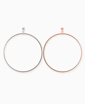 1045328 - <ER1218_DF27> [Same day delivery] [Silver Post] another simple ring earrings
