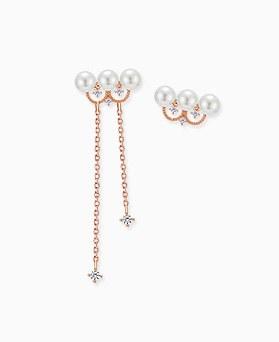 1045329 - <ER1217_DA19> [Silver Post] pearl princess earrings