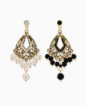 1045330 - <ER1221_DA27> pearl antique chandelier earrings