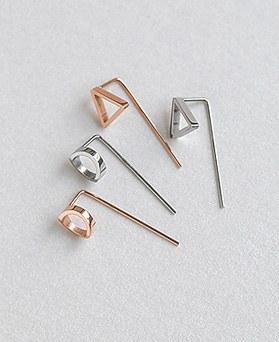 1045385 - <ER1222_CG22> [Stainless steel] Oscar earrings