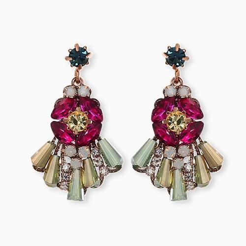 1045390 - [clip type] antique alto earrings