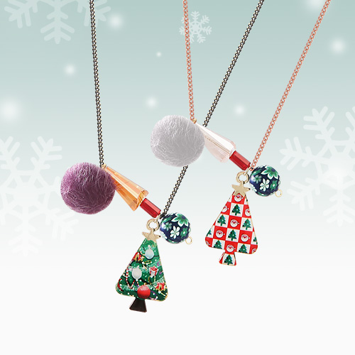1045403 - <NE387_BE07> Hello Christmas necklace