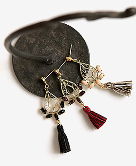 1045409 - <ER1232_S> [Out of stock] [clip type] belle tassel earrings