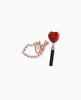 1045418 - <ER1242_GY02> [Silver Post] Unbalanced lip Ann heart earrings