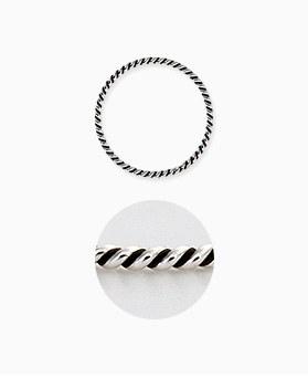 1045450 - <RI677_AD06> [Silver] antique basic twist ring
