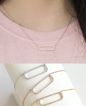1045454 - <NE387_BE07> Bard cubic necklace