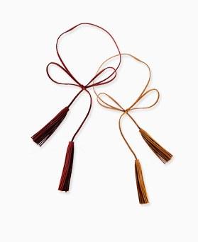 1045455 - <NE396_BA04> double tassel long necklace