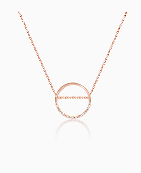 1045457 - <NE390_BB16> sweet circle necklace