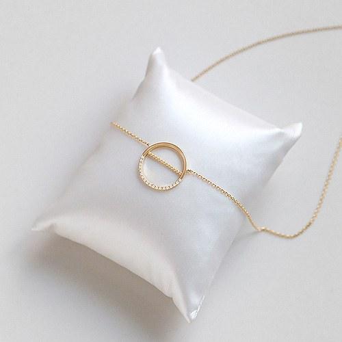 1045457 - <NE390_BB16> sweet circle necklace