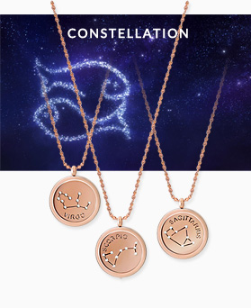 1045460 - <NE435_BB11> [Stainless Steel] Horoscope rose gold necklace