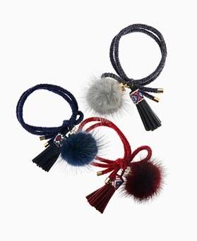 1045461 - <HA517_FH06> ethnic mink tassel ponytail