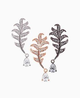1045473 - <ER1248_GI26> [Silver Post] big Leaf earrings