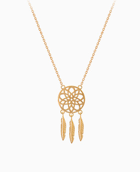 1045477 - <JS241_FH03> [Same-day shipping] [Silver] dreamcatcher necklace
