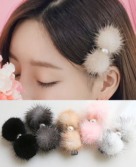 1045486 - <HA518_FI05> Mini mink pearl hairpin