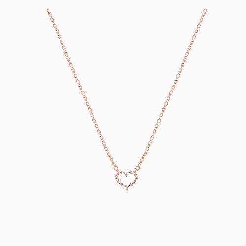 1045490 - <NE413_IH14> Melting heart necklace
