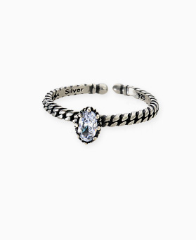 1045494 - <RI675_S> [Silver] oval slim line ring
