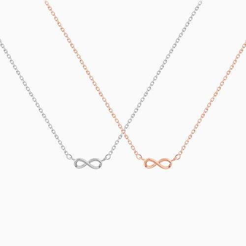 1045496 - <NE398_BA13> Mini infinity necklace