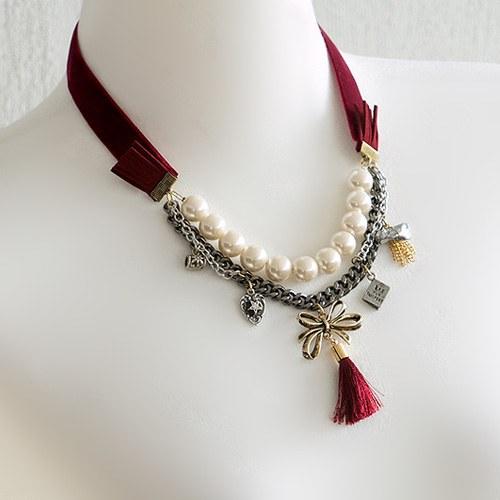1045498 - <NE398_BB04> la boum tassel necklace