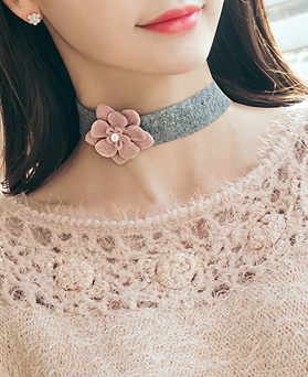 1045505 - <NE397_IG17> Flower day pearl choker necklace