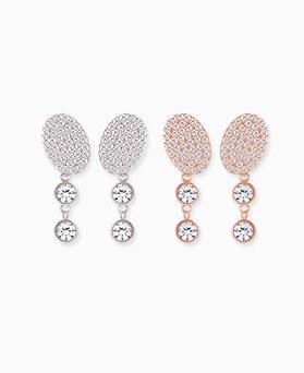 1045510 - <ER1400_IG06> [Silver Post] Juliana drop earrings