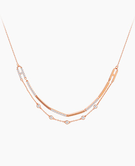 1045513 - <JS241_IE03> hush double chain necklace