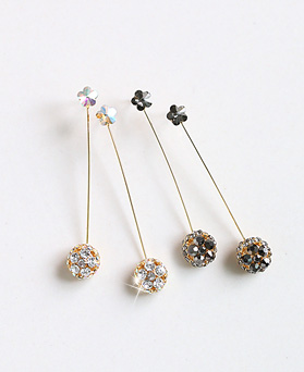 1045523 - <ER1258_GI28> Brie long stick earrings